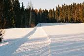 3km maastolenkki talvella